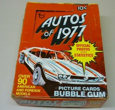 1977 Topps Autos of 1977 Trading Cards Empty Box with 33 Wrappers