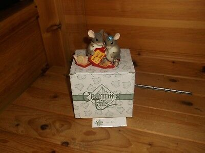 """Charming Tails """"love Is Timeless"""" Mouse Figurine By Fitz And Floyd"""