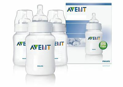 AVENT Classic Feeding Bottles (Newborn Flow - 125 ml - 3-Pack)
