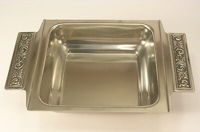 International Silver DiLido Hollowware Pattern Square Vegetable Bowl Stainless