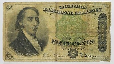 US Fractional Currency Fifty Cents National Bank Note New York Samual Dexter