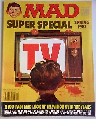 Mad Magazine Super Special Spring 1981. Tv Spoofs. Us Edition. Very Good.