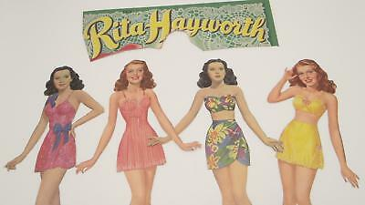 Lot Paper Cut Out Dolls Rita Hayworth Fashion Clothes Vintage