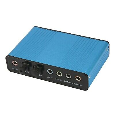 USB 6 Channel 5.1 External Optical Audio Sound Card Adapter Laptop Notebook PC