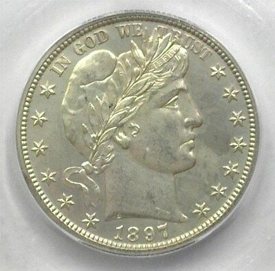 1897-O Barber Silver 50 Cents Icg Ms63 Pl  Extra Rare In Pl, Value To $15,000