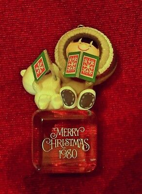 "1980 HALLMARK FROSTY FRIENDS #1 IN SERIES ""A COOL YULE"" Christmas Ornament"
