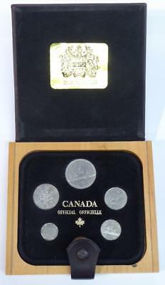 1981 Canada Official / Officielle Wooden Boxed 6 Coin Set