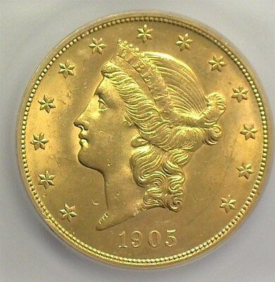1905 Liberty Gold $20 Icg Ms63 Pq! Low Mintage & Rare In Unc  Lists At $10000