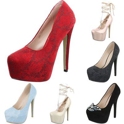 Plateau High Heels High Heel Pumps Damenschuhe 2829 Ital-design