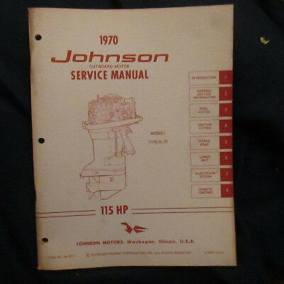 very good condition 1970 Outboard Motor Service Manual 115HP Model 115SL 70