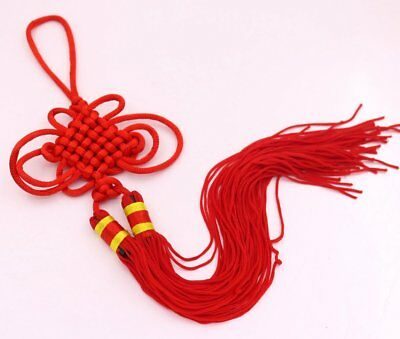 """Red Chinese Knot Chinese Knotting Decoration Tassel 10"""" Lucky Feng Shui"""