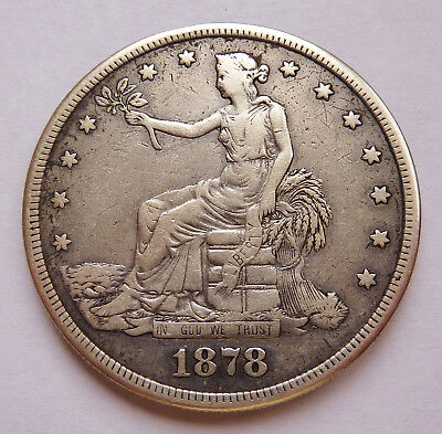 1878-S U.s. Liberty Seated Trade Dollar ~ Fine Condition