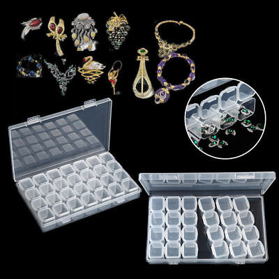 28 Slots Empty Storage Container Box Case for Nail Art Tip Rhinestone Gems O8-01
