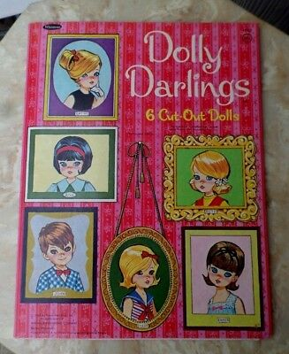 Vintage Original Dolly Darlings 1966 Whitman Paper Dolls Uncut