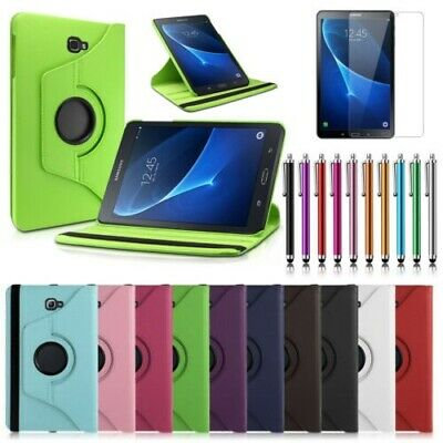 """Leather 360 Case Stand Cover For Samsung Galaxy Tab A6 10.1"""" (2016) T580 /T585"""