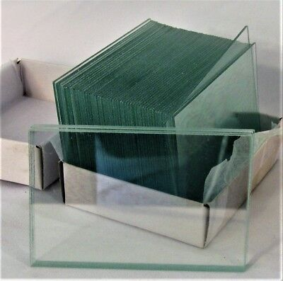 "Large Blank Microscope Slides 50 x 75 mm 2"" x 3"" Clear Plain Glass Ground Edge"