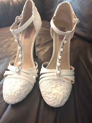 wedding shoes for women ivory size 8.5