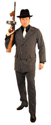 Charades Gangster Mobster Pinstriped Suit Adult Mens Halloween Costume 02162