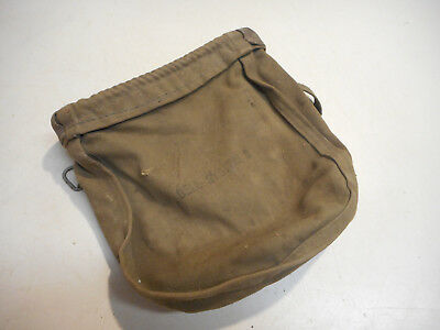 L2282- Vintage Bell System B Green Canvas Lineman telephone worker Pouch holder