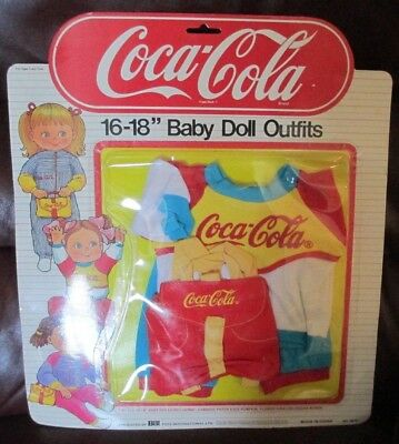 "Coca-Cola~Bbi International Toys International Ltd.~16-18"" Baby Doll Outfits #1"