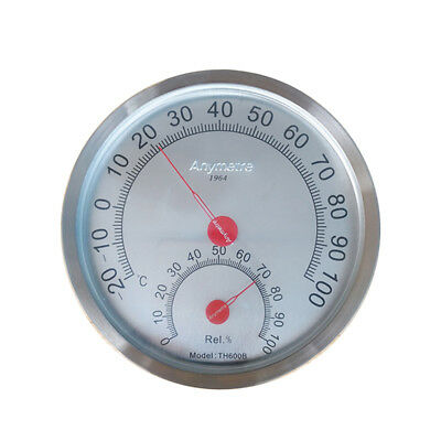 Indoor Outdoor Thermometer Hygrometer  Stainless Steel Case -20°C to 100°C