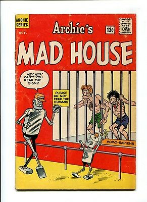 Archie's Madhouse #22 VINTAGE Archie Comic Mad House KEY Robot Cover 1st Sabrina