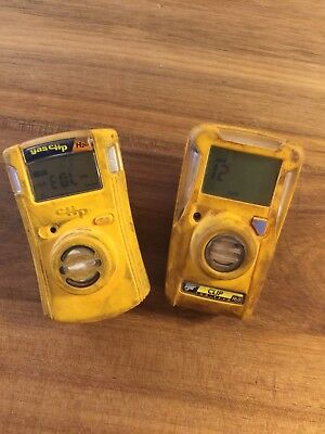 Lot of 2 BW Gas Clip Monitor BWC2-H H2S