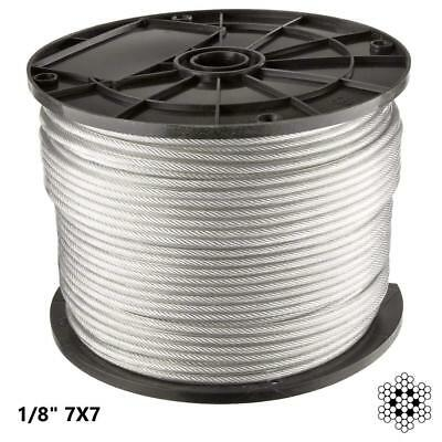 300 Ft   1/8 inch Stainless Steel Aircraft Wire Rope for Deck Cable Railing...