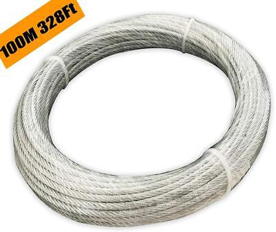 Muzata Galvanized Wire Rope Aircraft Cable for Railing,Decking, DIY...