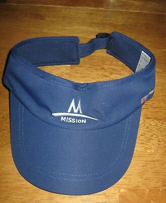 Mission Enduracool navy blue visor instant cool performance polyester unisex hat