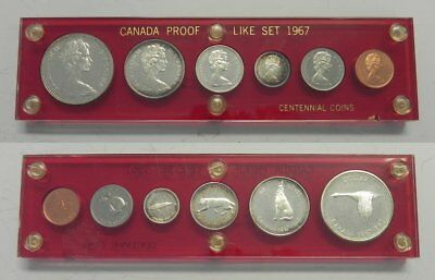 1967 Canada Proof Like Set Animals 80% Silver Capital Plastics Holder RCM Coins