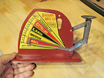 Vintage Antique Style Brower Mfg. Quincy, Ill. Jiffy Way Egg Scale good paint