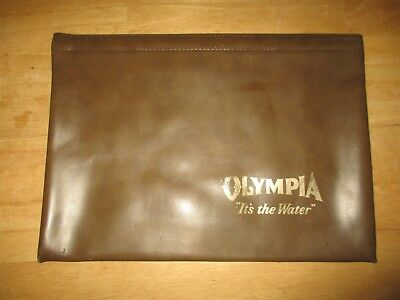 """vintage """"OLYMPIA IT'S THE WATER"""" bank bag / file bag"""