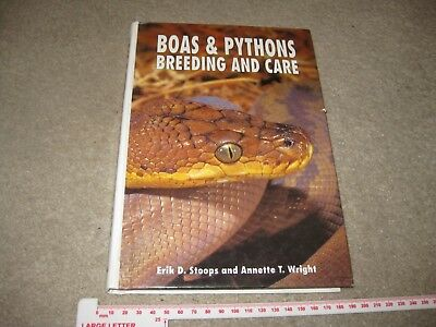 Boas & Pythons Breeding and Care by Stoops & Wright TFH Publications 1993
