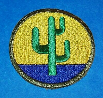 ORIGINAL CUT-EDGE WW2 103rd INFANTRY DIVISION PATCH, SOLID WHITEBACK VARIATION