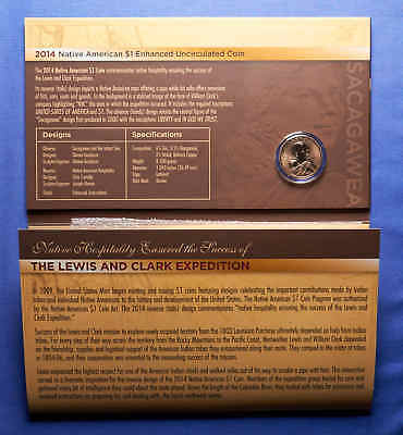 2014 Native American $1 Coin & Currency Set Enhanced Scagawea