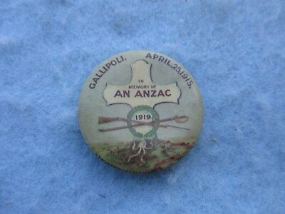 WWI ANZAC Gallipoli Pin Memorial 1919 WW1