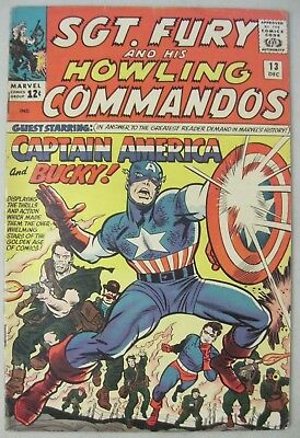 Sgt. Fury And His Howling Commandos #13 Marvel Comics 1964 Captain America