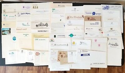 Vintage Hotel Motel Paper Stationery Mixed Lot 175+ Sheets USA International