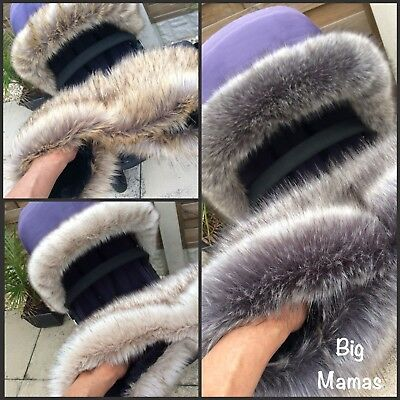 Luxury Faux Fur Pram -Hood Trim & Handmuff-  Pram Mitts/Gloves Fit most models