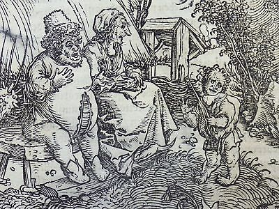 1532 Hans Weiditz - Master Woodcut - ADVANTAGE OF AN UGLY MISFORMED BODY