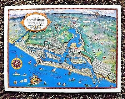 "Original 12"" x 16"" map Newport Harbor Orange County Calif./Claude G. Putnan"