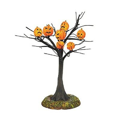 "Dept 56 Snow Village Halloween ""SCARY PUMPKINS LIT TREE"" ~ Lit Tree  ~ MIB ~ NEW"
