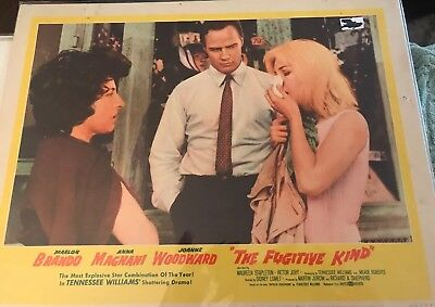 "Original Lobby Card ""The Fugitive Kind"" Marlon Brando Joanne Woodward 1960 60/23"