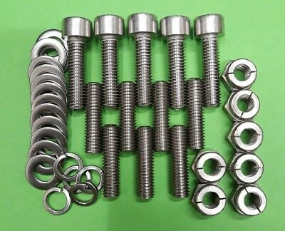 Aerotight All Metal Locking Nuts Rover T Series Engine Stainless Exhaust Studs