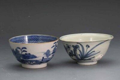 Chinese Ming and Export Lot of Two Blue and White Bowls #18 #260