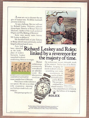 Rolex Explorer II Oyster Perpetual Chronometer Ad Richard Leakey 1986 Print Ad