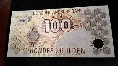 Netherlands 1992 100 Gulden Banknote Choice About Uncirculated !