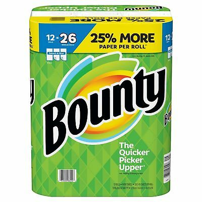 12 Jumbo Rolls Bounty Paper Towels Select-A-Size White