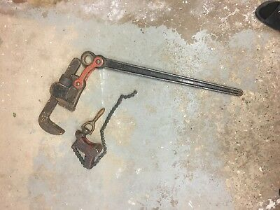 "Ridgid 48"" Compound Leverage Pipe Wrench w/ trunnion assembly 8"" pipe capacity"